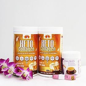 Liệu trình 2 hộp Keto Collagen 500g [Chính Hãng] - Bữa ăn Keto hỗ trợ GIẢM CÂN SIÊU TIỆN LỢI cho người thực hành Keto và người muốn giảm cân - Giảm 3-7Kg/ 1 tháng [Tặng 1 hộp Sữa giảm cân tiêu chuẩn châu Âu Hera Slimfit 100g và 1 Thước dây]