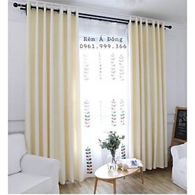 Rèm vải thô màu kem sáng nhẹ nhàng, rèm cửa trang trí phòng khách, phòng ngủ