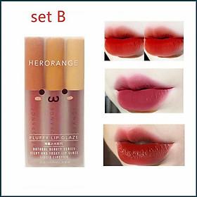 Set 3 Cây Son Kem Lì Herorange Fluffy Lip Glaze