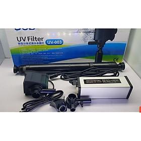 Đèn UV Diệt Khuẩn Và Rêu Hại  Kết Hợp Bơm Tạo Oxy UV 003 Dành Cho Hồ Cá Cảnh