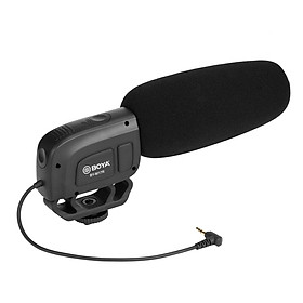 BOYA Cardioid Condenser Microphone Universal 1/4 Thread Battery Powered for DSLR Camcorder and Audio Recorders