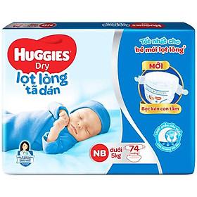 Tã Dán Sơ Sinh Huggies NB74 - Dưới 5kg (74 Miếng)