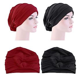 2x Unisex Slouchy Beanie Cotton Soft Chemo Caps Stretchy Sleep Cap Headwear