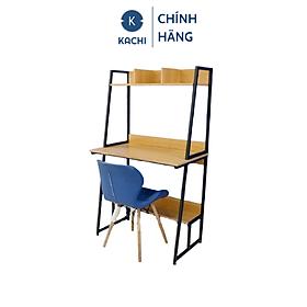 Bàn văn phòng, bàn máy tính chân sắt có kệ sách Kachi MK261 48x80x137cm - Hàng chính hãng