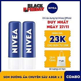 Combo 2 Son Dưỡng Ẩm Chuyên Sâu NIVEA Original Care (4.8G) - 85061