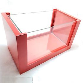 Bể cá mini để bàn khung gỗ loại lớn D34R20H19