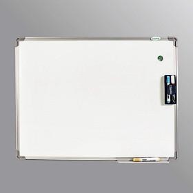 Bảng từ trắng 60*80 cm Tặng bút lông, bông lau, nam châm