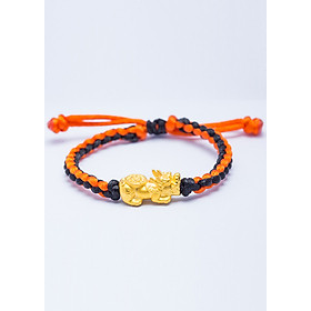 Vòng tay Handmade Tỳ Hưu Tụ Bảo vàng 24K Ancarat