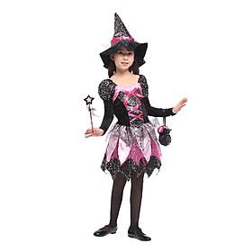 Bộ váy phù thủy sao lấp lánh hóa trang Halloween cho bé G-0218