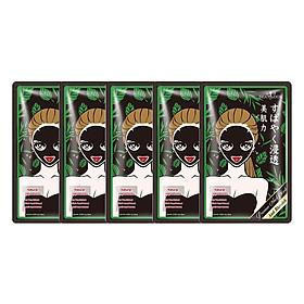 Combo 5 Miếng Mặt Nạ Tràm Trà Kiểm Soát Dầu Và Mụn SEXYLOOK Tea Tree Anti Blemish Black Facial Mask