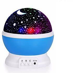 Đèn trình chiếu sao trăng tự xoay 360 độ và có thể chỉnh màu