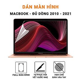 Miếng dán màn hình Macbook Screen Guard HD đủ dòng chống trầy xước, bụi bẩn cho màn hình