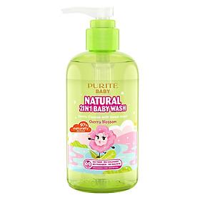 Sữa Tắm Gội Purité Baby Hoa Anh Đào Natural Baby 2in1 Wash Cherry Blossom (250ml)