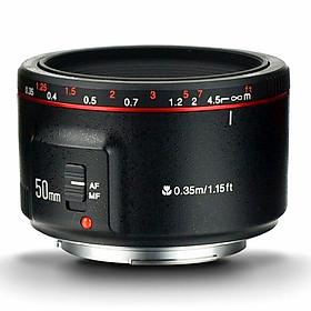 Ống kính Yongnuo 50mm F1.8 II for Canon kèm lens hood và gói hút ẩm- Hàng nhập khẩu