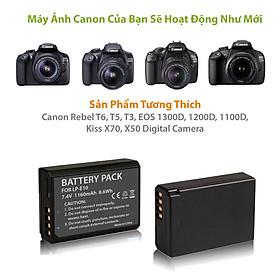 Pin máy ảnh Canon LP-E10 LPE10 dành cho Canon EOS Rebel T3 T5 T6 Kiss X50 Kiss X70 EOS 1100D EOS 1200D EOS 1300D