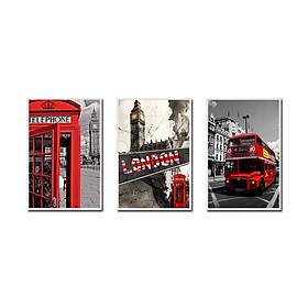 Decal trang trí bộ 3 phong cách nước Anh London Tipo_021