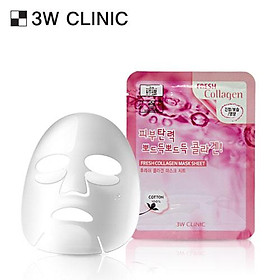 Mặt nạ chiết xuất từ Collagen 3W CLINIC FRESH COLLAGEN MASK SHEET 10 miếng/hộp