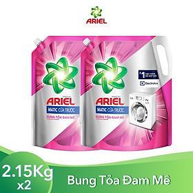 Combo 2 Nước Giặt Ariel Cửa Trước Bung Tỏa Đam Mê Dạng Túi 2.15kg