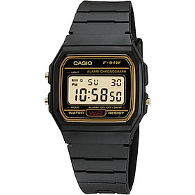 Đồng hồ unisex dây nhựa Casio F-91WG-9QDF