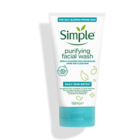 Sữa rửa mặt cho da dầu Simple Purifying Facial Wash Daily Skin Detox 150ml