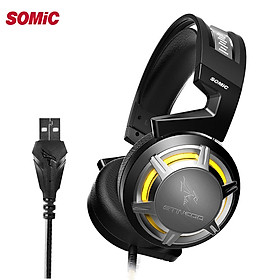SOMiC G926 USB LED Light Wired Passive Noise Reduction Gaming Headphone Headset with Microphone