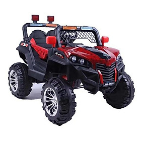 Ô tô xe điện địa hình JM-1199 đồ chơi vận động đạp ga 2 chỗ 2 động cơ (Xanh-Đỏ-Trắng-Cam)