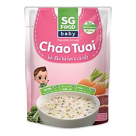 Cháo Tươi Baby Bò Đậu Hà Lan SG Food (240g)