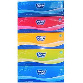 Combo 5 hộp khăn giấy Pulppy ( 180 tờ / hộp )