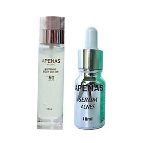 Combo 2 món : Serum ngừa mụn + Serum chống nắng dưỡng trắng da Apenas