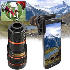 Universal 8X Long Focal Lens Telescope Optical Zoom Focal Telescope Lens Holder for Mobile Cell Phone for iPhone Camera