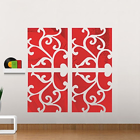 3D Decorative Pattern Mirror Surface Wall Sticker