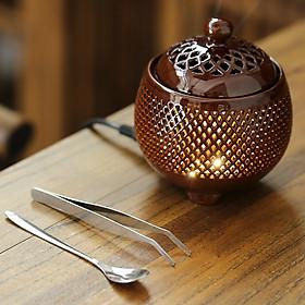 Lư xông trầm hương, tinh dầu bằng điện có chế độ hẹn giờ có đèn ngủ