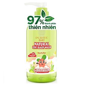 [Hàng Chính Hãng] Sữa Tắm Gội Thiên Nhiên Bơ Đậu Mỡ Purité Baby 250ml