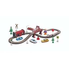 Bộ đồ chơi lắp ráp VECTO Đường ray và xe lửa chạy pin set du lịch AU2880