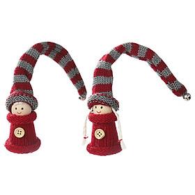 Christmas Santa Claus Plush Dolls Swedish Swedish Tomte Hanging Long Hat Gnome Plush Doll Christmas Decorations For Home