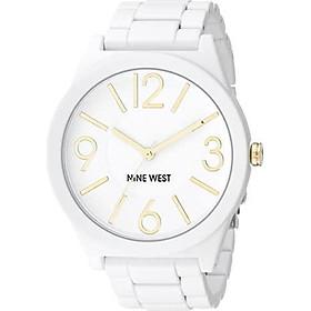 Nine West Women's NW/1678WTWT Matte White Rubberized Bracelet Watch