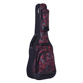 Balo Đựng Đàn Guitar Nhiều Túi Có Dây Đeo Điều Chỉnh Được (42inch) - Đỏ