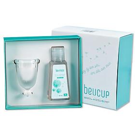 Bộ Sản Phẩm Cốc Nguyệt San BeU Cup 40ml, Siêu Mềm Hardness 40, Chuẩn FDA HOA KỲ, 100% silicone Y Tế WACKER ĐỨC, ISO 13485 Chuẩn thiết bị y tế loại A, HÀNG CHÍNH HÃNG