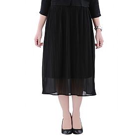 Chân Váy Nữ Dập Ly Form Dài - Đen (Size M)