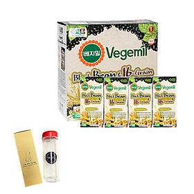 Lốc 16 hộp Sữa đậu đen và 16 vị ngũ cốc Vegemil 190ml - Tặng 1 bình nước 500ml nhập khẩu Hàn Quốc