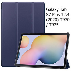 Bao Da Cover Dành Cho Máy Tính Bảng Samsung Galaxy Tab S7 Plus 12.4  (2020) T970 / T975 Hỗ Trợ Smart Cover