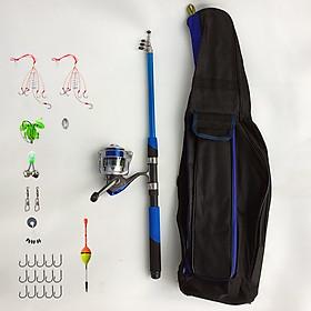 Bộ cần câu rút cacbon + Máy câu CK4000 + phụ kiện + túi đựng cần