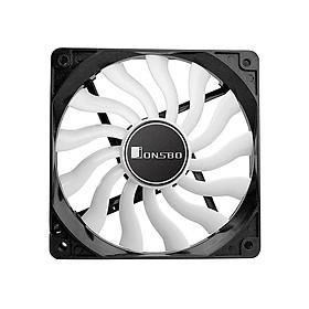 JONSBO 12020 Computer Cooling Fan 12CM Chassis Case Fan Mute Case Radiator Case Cooler with 13 Fan Blades 3PIN 4PIN