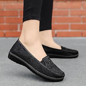 Giày đế xuồng-Giày lười nữ