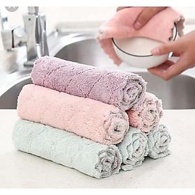 Khăn lau vải sợi Microfiber lau sàn nhà,lau xe, nhà tắm, nhà bếp,lau khô lông vật nuôi,lau tay,lau khô bát đũa.