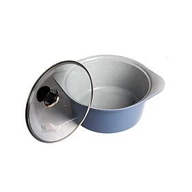 Nồi đá Ecoramic cao cấp phủ 5 lớp chống dính ceramic siêu bền – 20 cm (_20 SAUCE POT _IH)