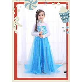 Váy Đầm bé gái công chúa Elsa cho bé.