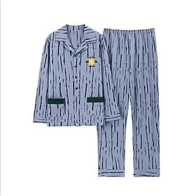 Đồ bộ Pijama đồ ngủ nam cao cấp, vải COTTON 100 dày dặn & thoáng khí phù hợp cho cả 4 mùa (701)
