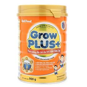 Sữa bột NutiFood Grow Plus+ cam 900g - cho trẻ chậm tăng cân