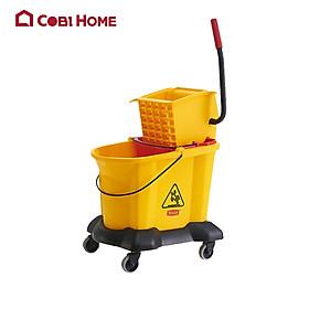 Bộ lau nhà đa năng 2 thùng nước bằng nhựa GRANDMAID HORECA TRUST mã 5311YE